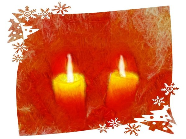 Candles With Border 1
