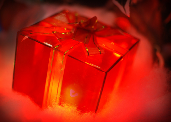 Gift: Lighted gift