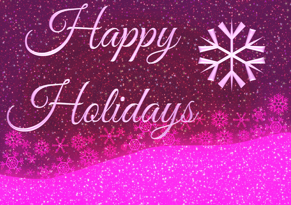 Happy Holidays 1: A sparkly, snowy seasonal greeting. Very high resolution file.