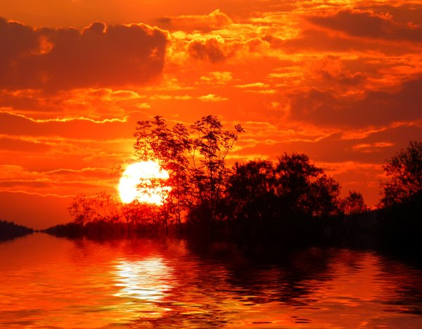 Sunset Over Water: