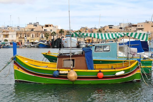 Marsaxlokk fishing village: Fishing village on Malta called Marsaxlokk.