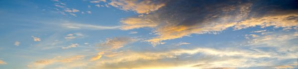 sky panorama: sunset clouds at Key West, Florida, over water