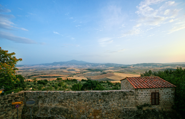Pienza Tuscany View to Monte A