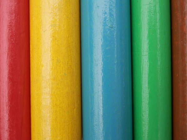 coloured pegs