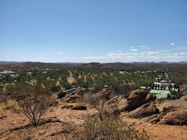 A town like Alice13: looking out over the central Australian township of Alice Springs