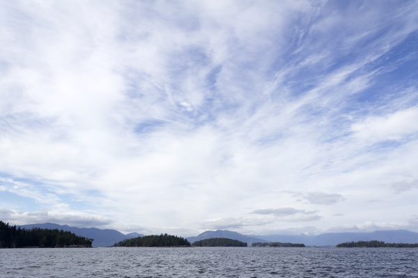 Island sky: Sky above islands off the west coast of Vancouver Island, Canada.