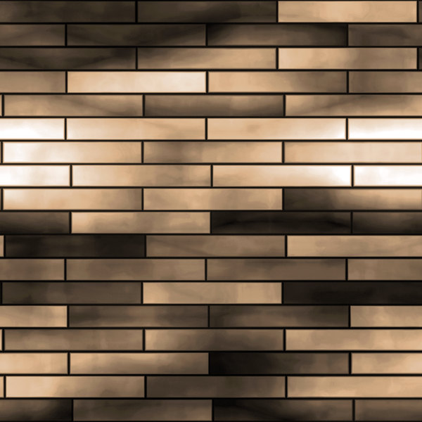 Graphic Bricks: A pattern of bricks in dark brown, black and beige.