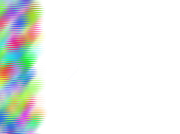 Rainbow Patterned Border 3: A patterned border of horizontal lines in pastel rainbow colours. Bright and eyecatching.