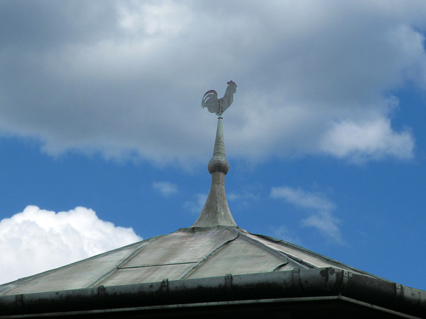 Tower with weathercock
