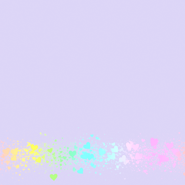 Heart Border 2: A plain violet background with a border of tiny multicoloured hearts. This would make a great card, stationery, background or texture.