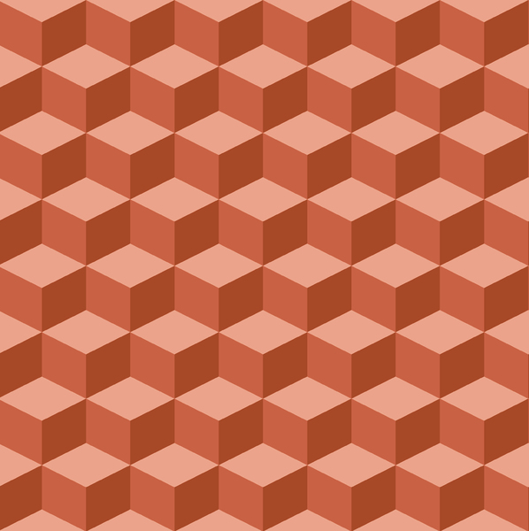 Tumbling Blocks 4: Seamless tumbling blocks background.  Optical illusion illustration.