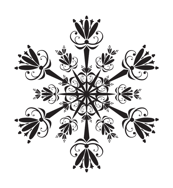 Snowflake: Abstract snowflake element.