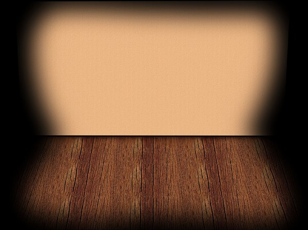 Stage Backdrop 1: A wall and floor with lighting effects that could be a stage, shelf or empty room.