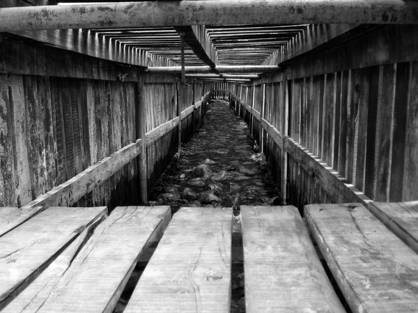 Inside of a dock