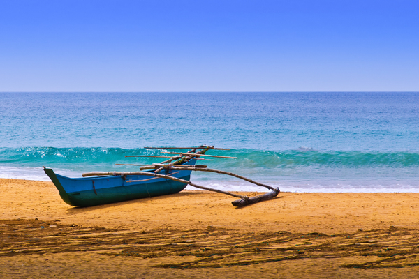 Fisherman's Canoe on Beach