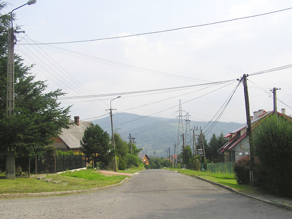 Street in mountain town