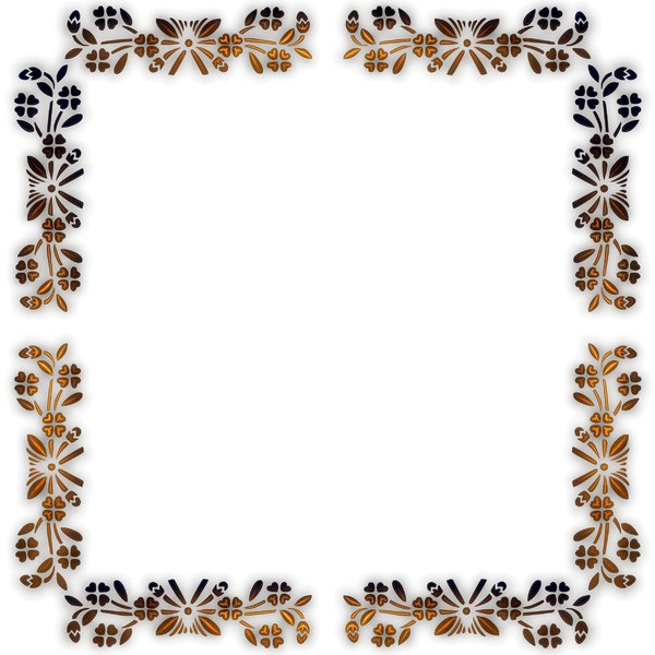 Pretty Floral Border 2: Delicate and pretty floral border or frame on a white background, with a 3d effect. You may prefer thihttp://www.rgbstock.com/photo/2dyWhYD/Scribbly+Border+3s: