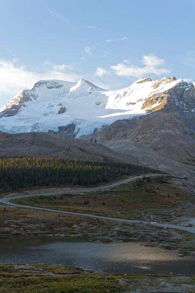 Road to a glacier: Road to a glacier in the Rockies, Canada.