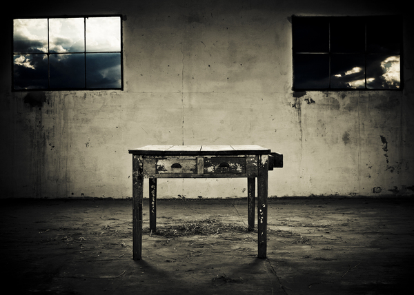 abandoned table: