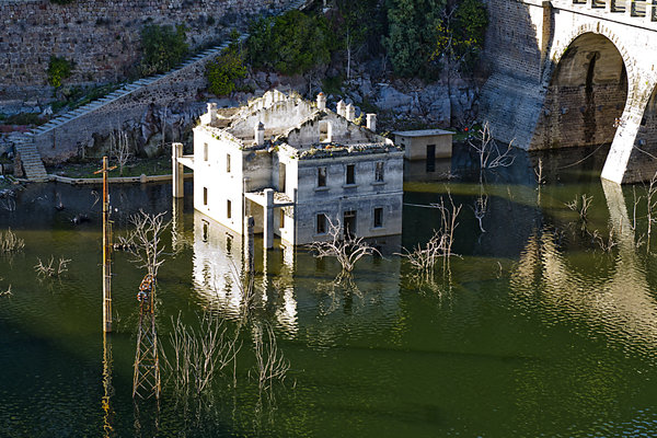 Ancient ruins flooded by water