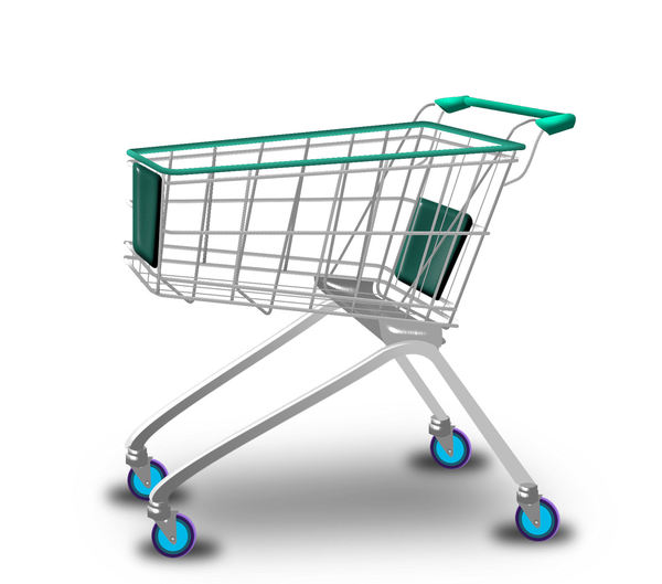 Shopping trolley: Shopping trolley  in 4 versions