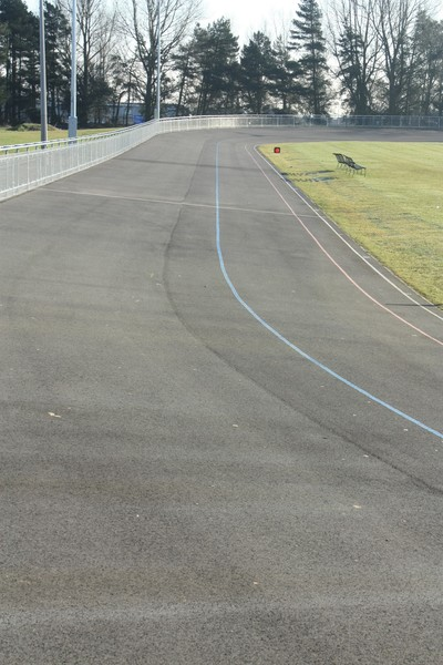 Velodrome: View of an outdoor cycling track