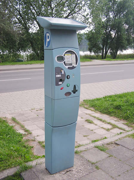 Parking meter: Parking meter in Lithuania.