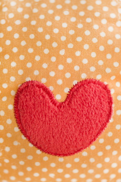 Red applique heart