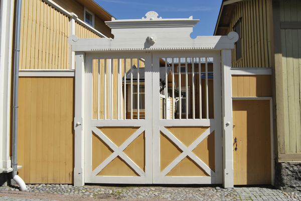 Wooden Gate: Restored wooden gate traditional for Western Finland