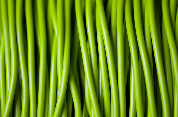 green cables: