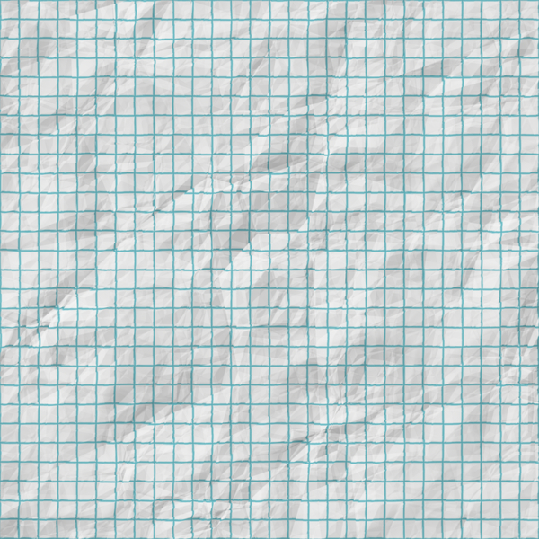 Wrinkled Paper Texture 1: A square piece of crumpled, wrinkled graph paper suitable for a great background, texture, fill, or design element. You may prefer this:  http://www.rgbstock.com/photo/n3cU7Ac/Crumpled+Coloured+Paper+Pink  or this:  http://www.rgbstock.com/photo/mPiTonE/B