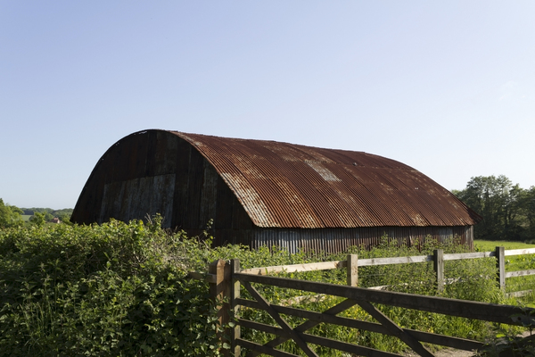 Rusty old barn
