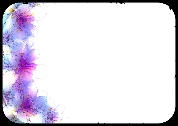 Abstract Fairy Iris Border 1: A grungy floral border or frame of fairy irises on a plain background with a black border. Plenty of copyspace for your input. You may prefer this:  http://www.rgbstock.com/photo/mGnhxWU/Fairy+Iris  or this:  http://www.rgbstock.com/photo/2dyVQ5h/Floral+B