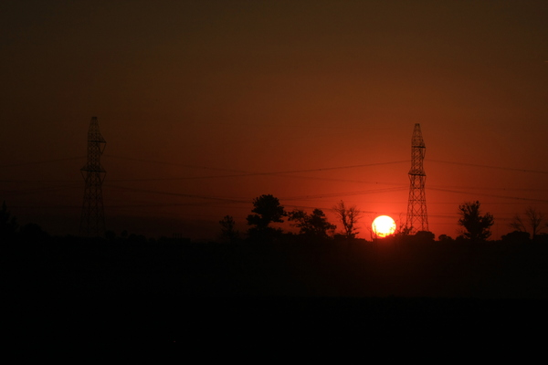 Electricity in Sunset: Electricity towers in Sunset