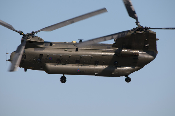 Chinook: Chinook HC2 (ZA674), Royal Air Force, at the Waddington Airshow 2013