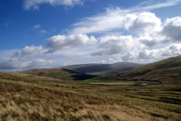Howgill Fells: View in the Howgill Fells area, Lake District, NW England (UK).