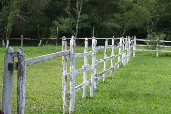 White fence: A white fence in Tactic, Guatemala
