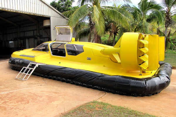 hovercraft1: hovercraft used for local mixed terrain tourism