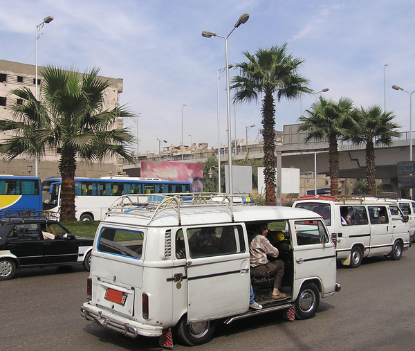 Cairo streets: Cairo rush hours. There are always rush hours!