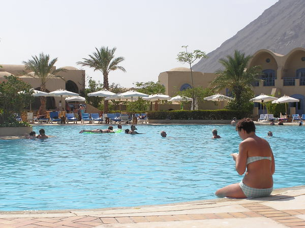 Hotel swimming pool: Hotel swimming pool. Taba Heights, Egypt