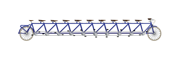 Ten Men Bike Gradients: tandem with colors!
