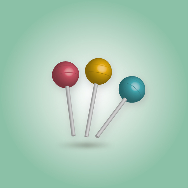 3 d lolly pop retro cores: