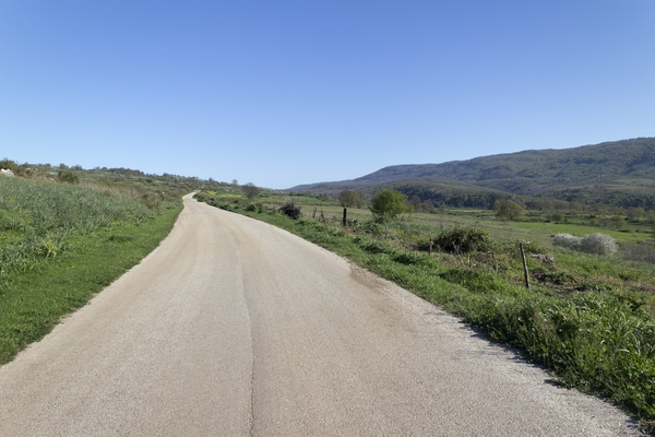 Open road: A rural eoad in southern Italy.