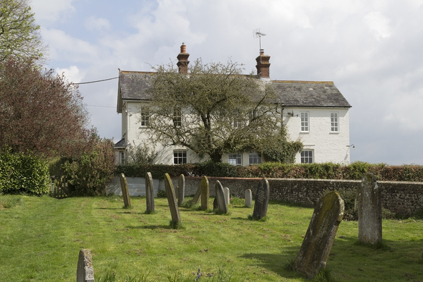 Graveyard and cottages