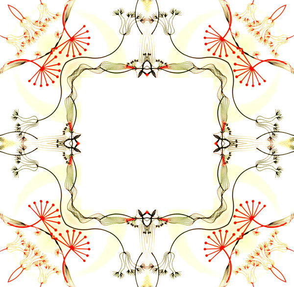 Ornate Floral Frame 6