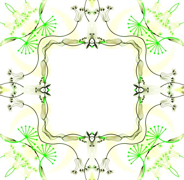 Ornate Floral Frame 4