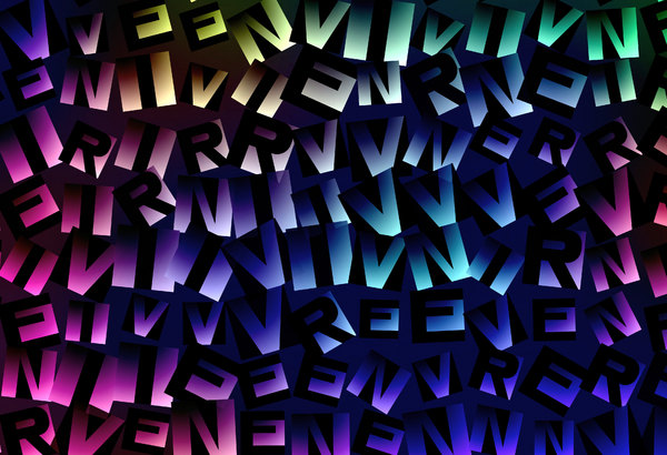 Alphabet Texture: A texture, fill or background of letters with gradient colours.