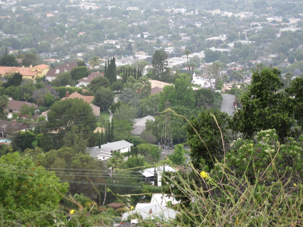 City Panorama: A panorama of West Hollywood from Mullholland Drive area (Studio City)