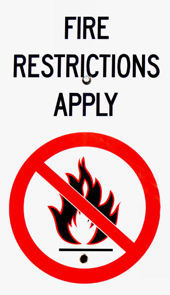 no fire: sign advising ban on fire