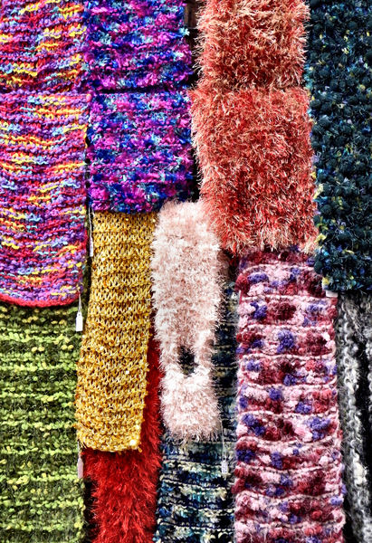homemade neck warmers1: colourful homemade scarves